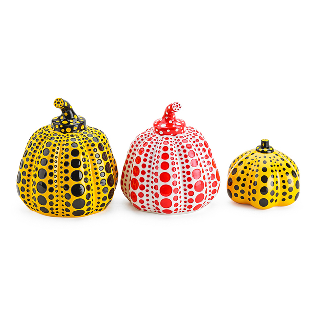 Yayoi Kusama, 'Three Pumpkins (Red And Yellow)', Rago/Wright