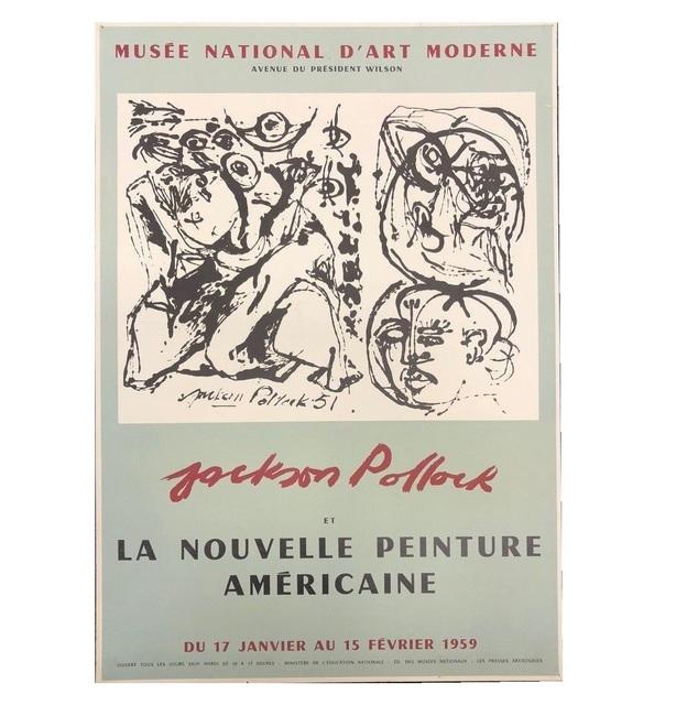 """Jackson Pollock, '""""Jackson Pollock et la Nouvlle Peinture Americaine"""", 1959, Exhibition Poster, Musee National D'Art Paris,', 1959, VINCE fine arts/ephemera"""