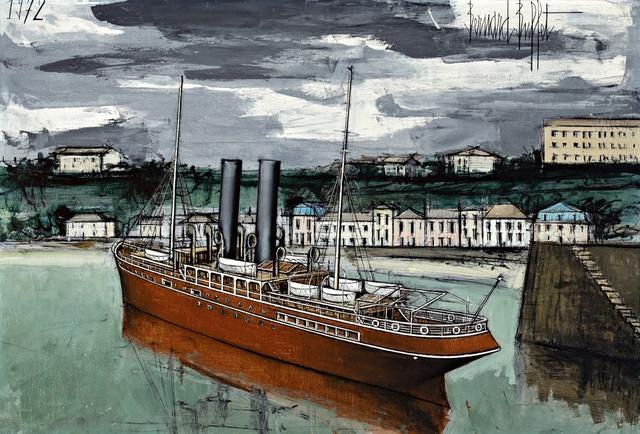 Bernard Buffet, 'Granville, bateau sortant du port', 1972, BAILLY GALLERY