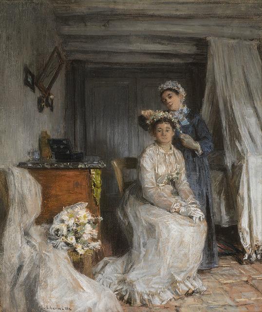 , 'La couronnement de la mariée,' 1885, Waterhouse & Dodd