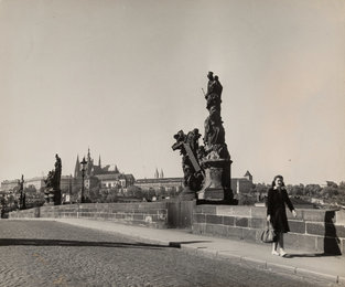 Charles Bridge over Vlatava River, Prague