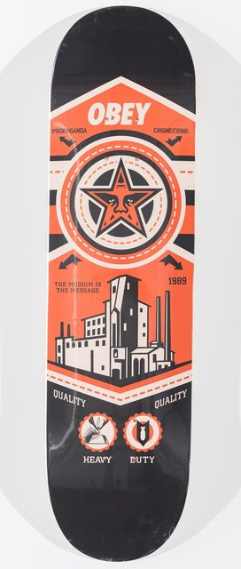 Shepard Fairey, 'Untitled', Print, Offset lithograph in color on skate deck, Heritage Auctions