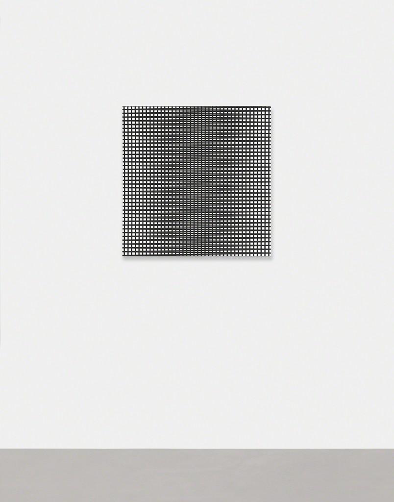 3 trames 90°-179°-181°, 1971 / Serigrafia su tavola, 80x80 cm / Partial view of the exhibition / A arte Invernizzi, Milano / Courtesy A arte Invernizzi, Milano / Foto Bruno Bani, Milano