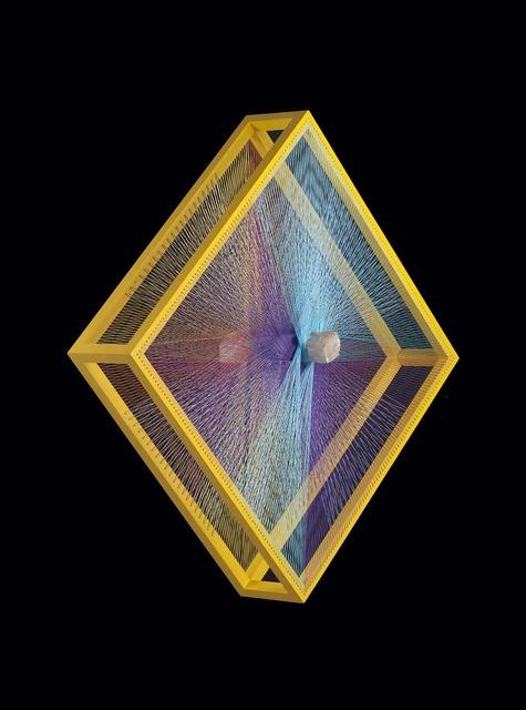 Milton Becerra, 'Wynwood', 2013, Sculpture, Yellow acrylic on wood, nylon fiber, guiseom quartz, Lyle O. Reitzel