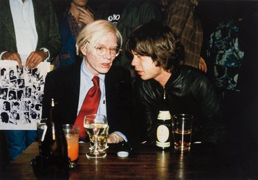 Mick Jagger and Andy Warhol