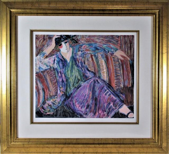 "Barbara Wood, ' ""Pensive Woman"" ', ca. 1980, Joseph Grossman Fine Art Gallery"
