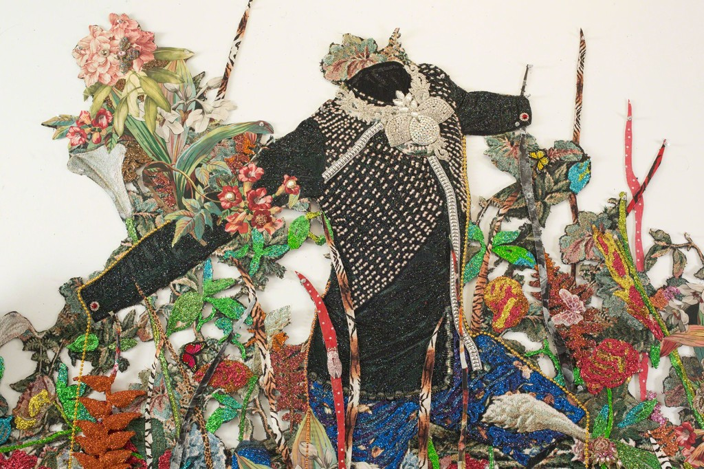 Ebony Patterson. . . . a wailing black horse . . . for  those who bear/bare witness, 2018 (detail). Courtesy the artist and Monique Meloche Gallery, Chicago.