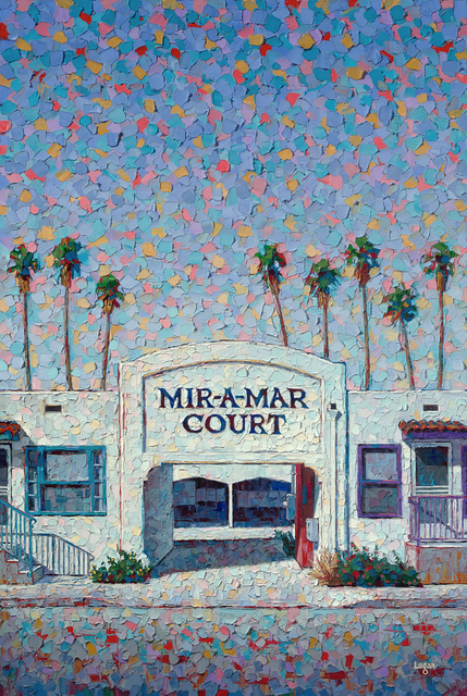 Raymond Logan, 'Mir-A-Mar Court', 2020, Painting, Oil on canvas, George Billis Gallery