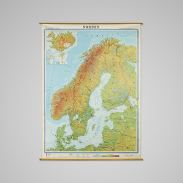 map of Scandinavia from the private dining room