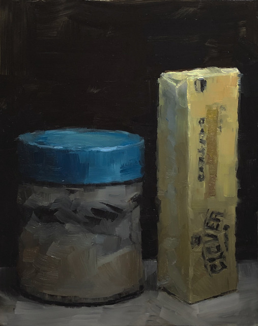Tom Giesler, 'Short Fat Tall Fat #1: bacon fat and butter', 2019, Painting, Oil on panel, McVarish Gallery