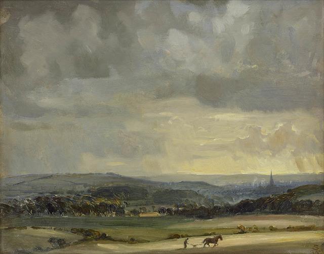 , 'Rainclouds Over Salisbury,' 1935, Portland Gallery