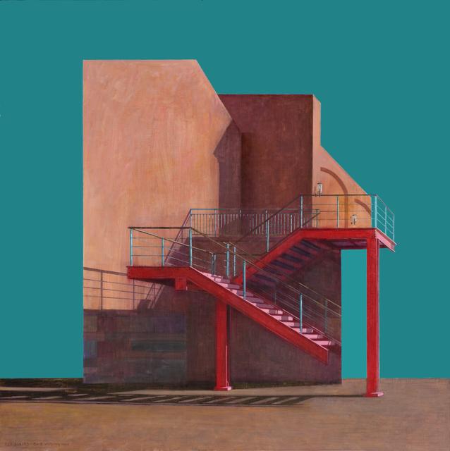 , 'Red Stairs,' 2015, Leehwaik Gallery