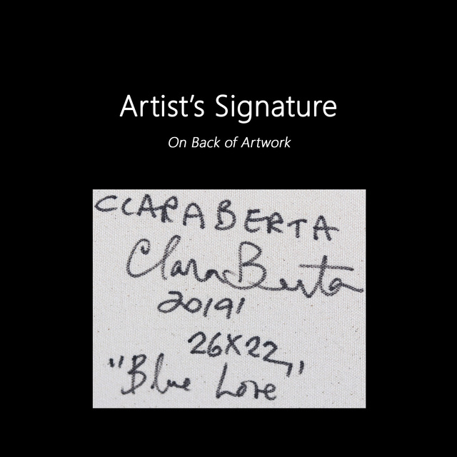 Clara Berta, 'Blue Love', 2020, Painting, Acrylic on Canvas, Artspace Warehouse