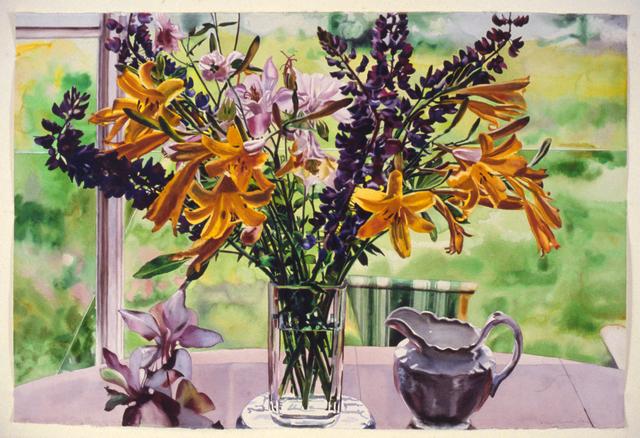 Carolyn Brady, 'Midsummer Day Bouquet', 1986, Painting, Watercolor on paper, Nancy Hoffman Gallery