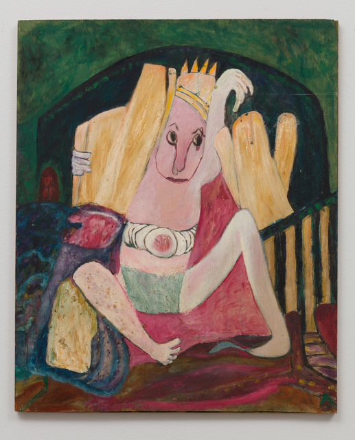 , 'Untitled (Figure with Spiked Hat, Green Background) ,' , The Good Luck Gallery