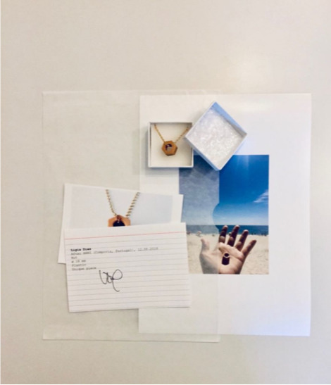 Ligia Dias, After ANNI, 2018  Silver Gold Plated, Plastic 20 x 0,5 cm