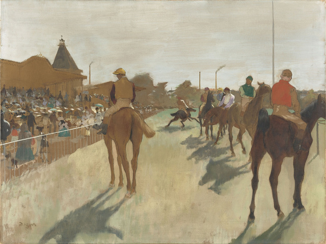 , 'Horses before the Stands,' 1866-1868, The National Gallery, London