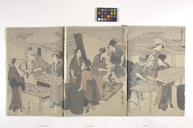 Hosoda Eishi, 'Triptych', date unknown, Indianapolis Museum of Art at Newfields