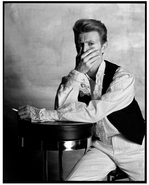 , 'David Bowie in Conversation with the Photographer Tony McGee, London,' 1990, Imitate Modern