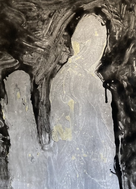 Case Baumgarten, 'Colorless Night', 2020, Mixed Media, Stain and resin on paper, Anne Neilson Fine Art