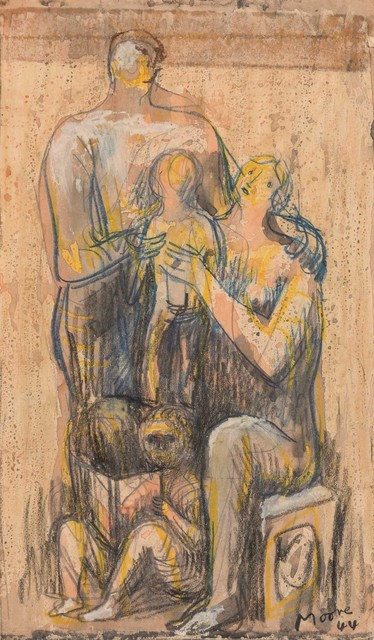 Henry Moore | Family Group (1944) | Artsy