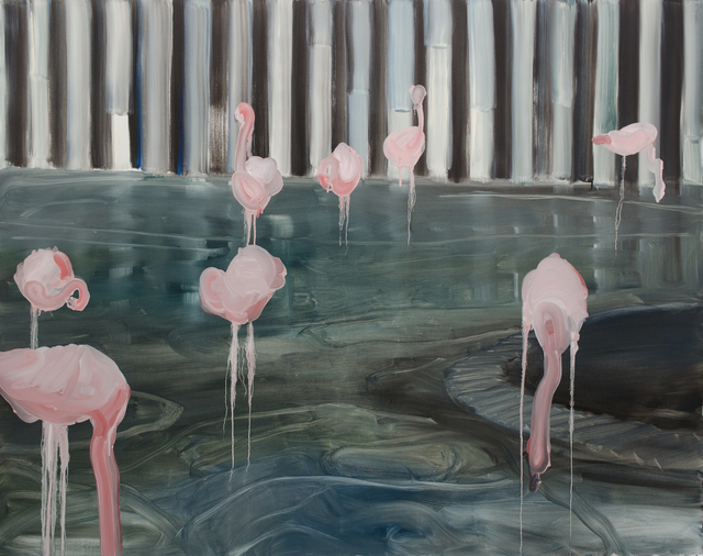 , 'i am a flamingo in your eyes,' 2015, Galerie Thomas Fuchs