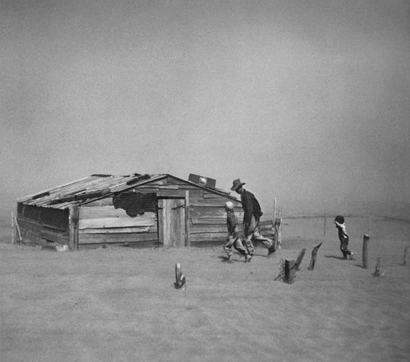Arthur Rothstein, 'Fleeing Dust Storm, Cimarron County, Oklahoma', 1936, printed under Rothstein's supervision, 1983, 84, Photography, Gelatin silver print, Scott Nichols Gallery