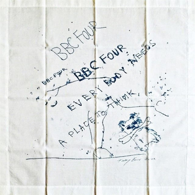 Tracey Emin, 'Everybody Needs a Place to Think (Limited Edition Vintage Promotional Handkerchief, VIP Invitation and Box) for British Broadcasting Company (BBC 4)', 2002, Alpha 137 Gallery Auction
