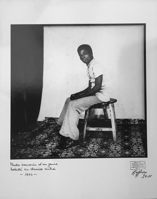 Ambroise Ngaimoko, 'Photo souvenir d'un jeune habillé en chemise cintrée.', 1973, Magnin-A