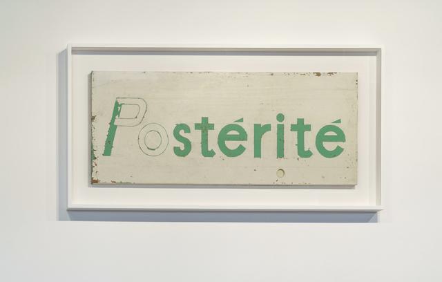 , 'Postérité,' , PARISIAN LAUNDRY