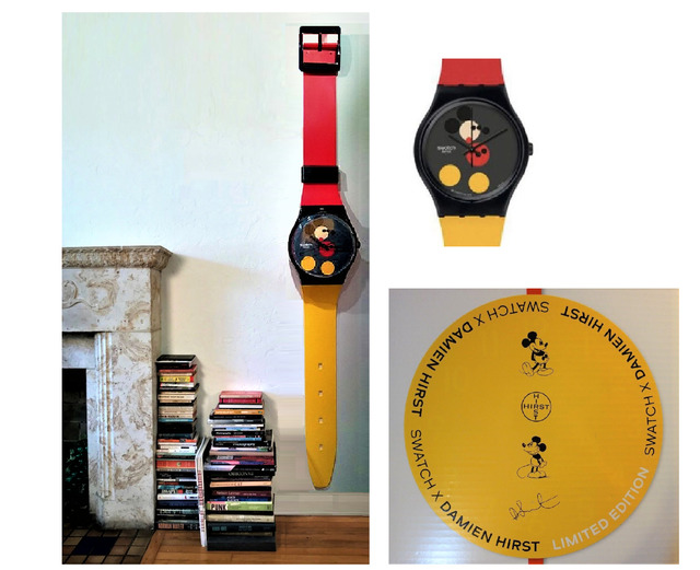 """Damien Hirst, '""""Swatch X Maxi"""", 2018, Large Wall Clock (approx 2.1 meter), Damien Hirst and Disney, Limited Edition of 333', 2018, VINCE fine arts/ephemera"""