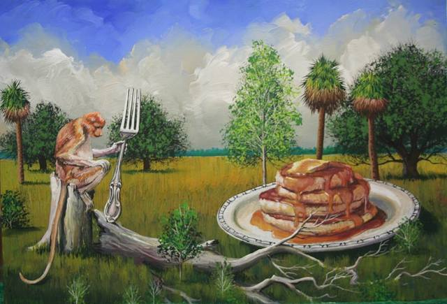 Bill Mead, 'Temptation Resisted (Monkey with A Fork)', 2015, Zenith Gallery