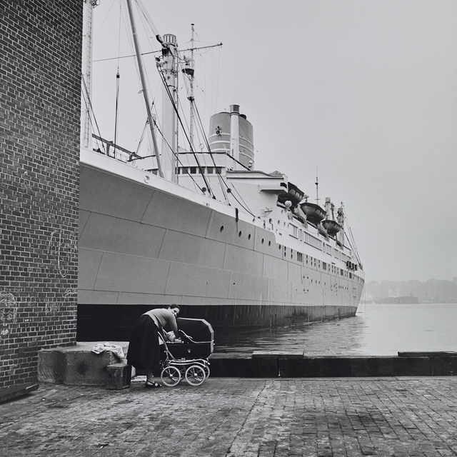 , 'VM1956W03023  - 1956, Woman with Stroller and Ship,' Printed 2017, KP Projects
