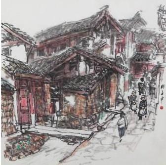 , 'Sceneries in Li Jiang,' , Ode to Art