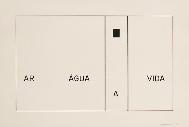 , 'No Title - Visual Poem,' 1978, Roberto Alban Galeria de Arte