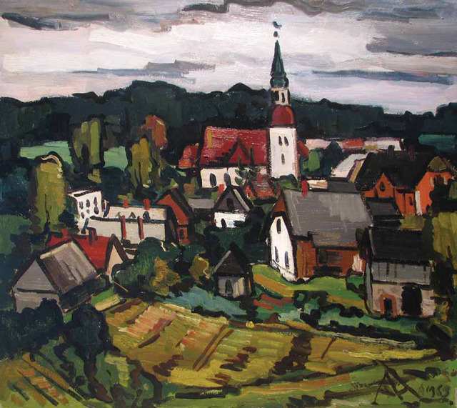 , 'Latvian Town,' 1962, Paul Scott Gallery & galleryrussia.com
