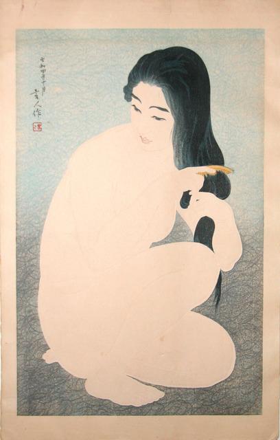 , 'Woman Combing Her Hair,' October 1929, Ronin Gallery