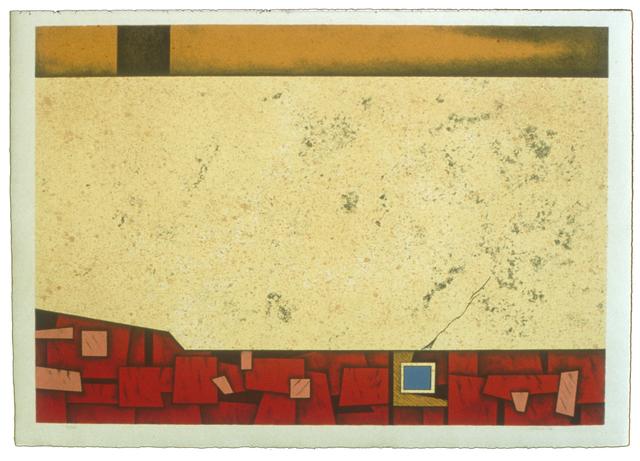 , 'Roja,' 1974, Mixografia