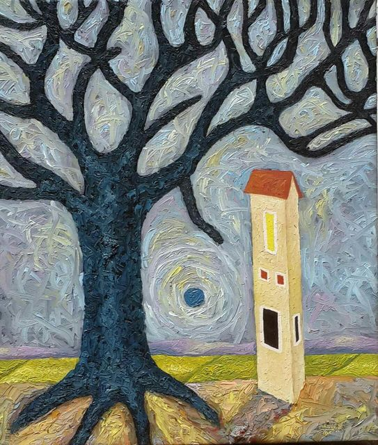 , 'A house and a Tree,' 2018, One Off Contemporary Art Gallery