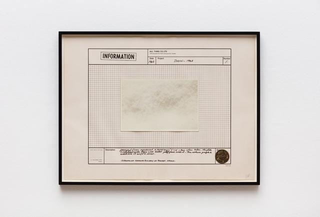 , 'Snow - 1968,' 1970, Hales Gallery