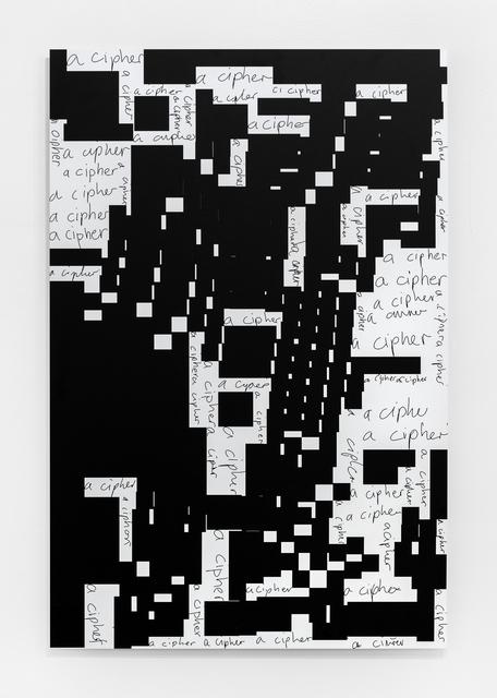 Damon Zucconi, 'A Cipher', 2017, The Bonnier Gallery