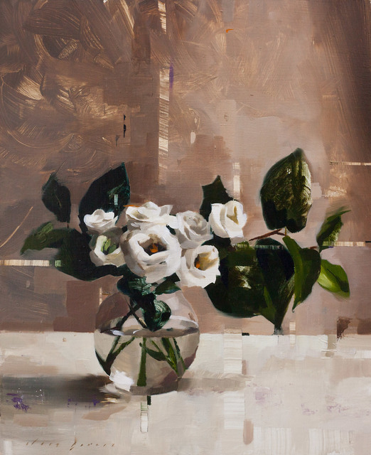 , 'Lisianthus and Shade,' 2018, Abend Gallery