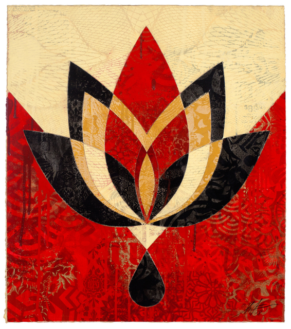 Shepard Fairey (OBEY), 'Bleeding Lotus, Version 4', 2018, Galerie Ernst Hilger