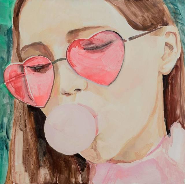 , 'Girl Who Chews Gum,' 2017, Tabula Rasa Gallery