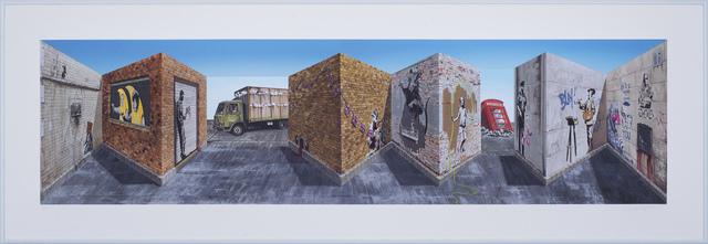 Patrick Hughes, 'Banski', 2021, Print, Multiple à jet d'encre archives avec peinture à la main / Hand-painted multiple with archival inkjet, Galerie de Bellefeuille