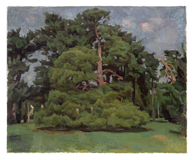 , 'Pine Trees in Loose Park XVII,' 2013, New York Studio School
