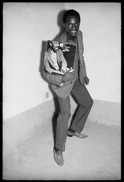 Malick Sidibé, 'Montrant un Disque', 1972, Photography, Gelatin silver print, printed 1998, GALLERY FIFTY ONE