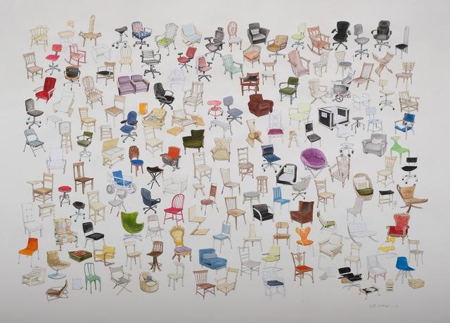 , 'Everyone I know Sits Down,' 2018, Kopeikin Gallery