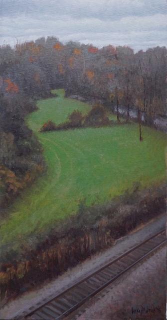 Luke Allsbrook, 'Dark Evening with Green Field', 2018, Shain Gallery