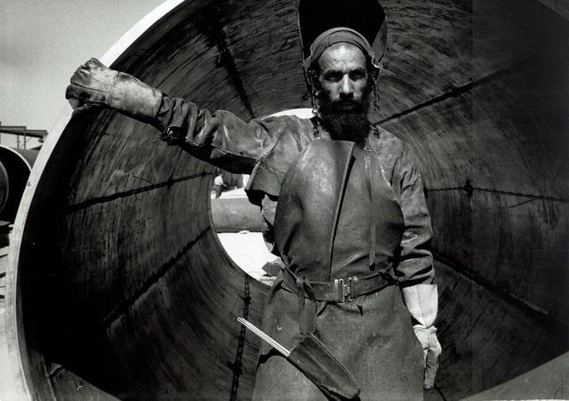 , 'vintage print/Yemenite welder and Pipeline, Israel/vintage print,' 1954, °CLAIR Galerie